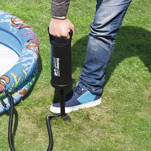 inflador bestway pileta colchon manual de 30cm + 3 picos