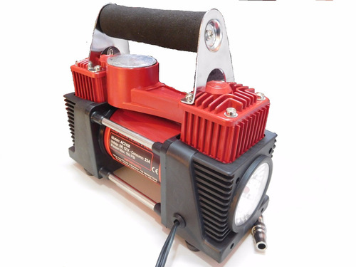 inflador compresor 12v doble pistón 4x4 c/ luz led  baliza