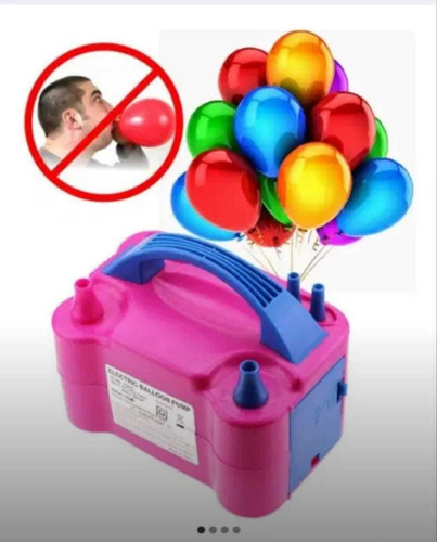 inflador de bombas globos eléctrico decoración fiesta inflar