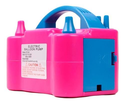 inflador de globos eléctrico 2 inyectores compresor 600 watt