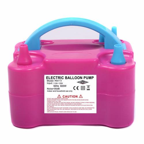 inflador de globos eléctrico doble boquilla