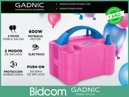 inflador de globos electronico gadnic doble boquilla eventos