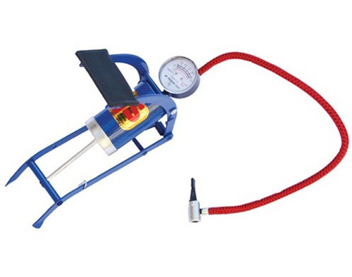 inflador de pie con manometro de 1 cilindro