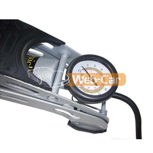 inflador de pie portátil extreme reforzado con picos + bolso