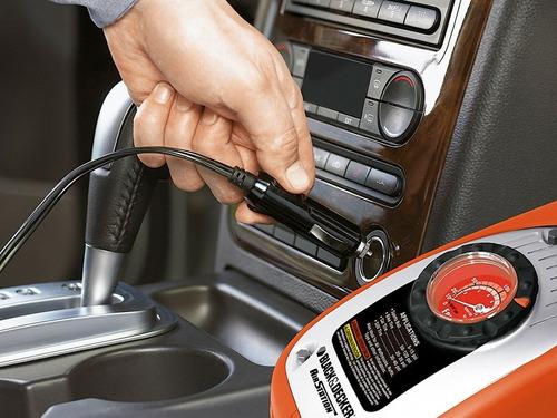 inflador electrico auto black and decker 12v y 220v  asi300