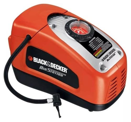 inflador electrico black decker asi300 auto 12v-220v +3picos
