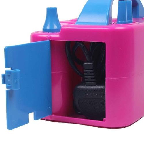 inflador globo electrico doble salida rosa balloon