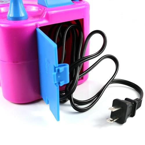 inflador globo electrico doble salida rosa envio inmediato