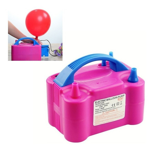 inflador globos eléctrico doble boquilla potente bombas