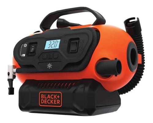 inflador inalambrico black & decker bdinf20qp-ar black + dec