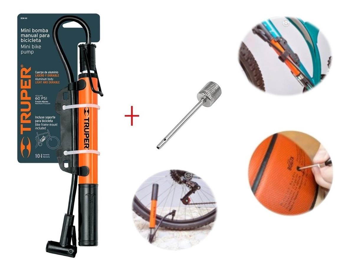 Bomba de Aire para neum/ático de Bicicleta aleaci/ón de Aluminio, Incluye Adaptador para bal/ón de f/útbol Wheelup Mini /& Aluiminum