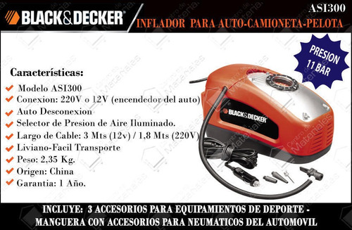 inflador multiuso black + decker