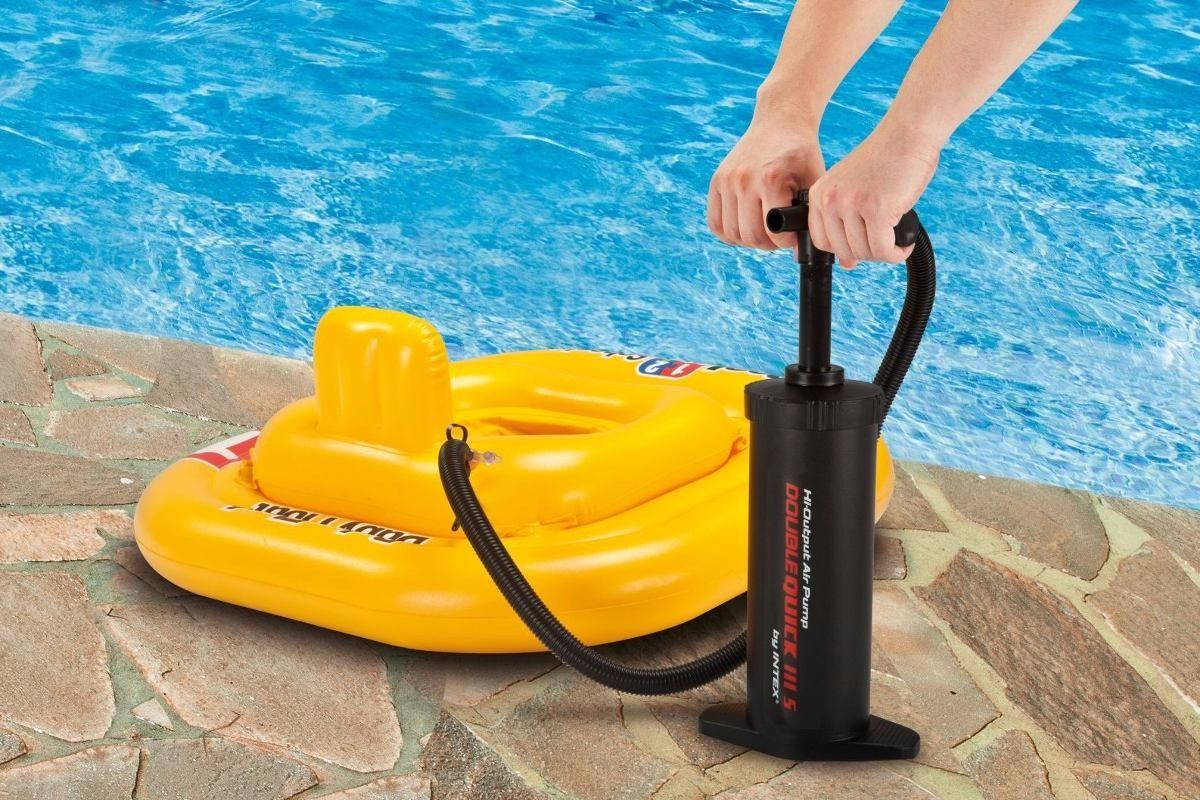 Inflador piscinas colchon inflable intex bomba de aire for Piscina inflable intex