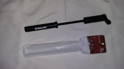 inflador portatil de pelotas marca walon futbol voley basque