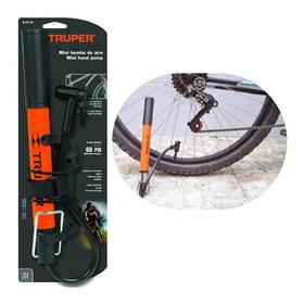 Inflador Portatil Para Bicicletas Y Pelotas Aguja+adaptador