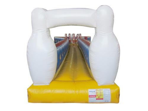 inflável boliche humano 11m x 2,10m x 1,90m - frete grátis