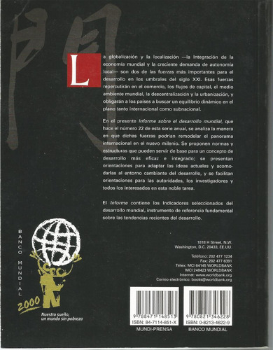 informe sobre desarrollo mundial 1999/2000