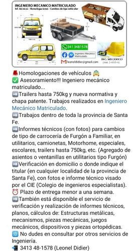 informe técnico ingeniero mecanico homologaciones