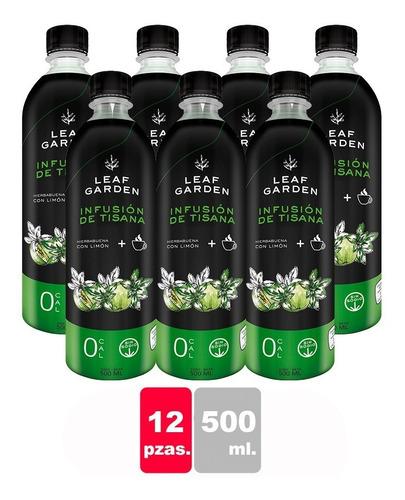 infusión de hierbabuena con limón leaf garden 12 pzas  500ml