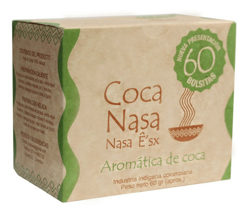 infusión te de coca natural x60