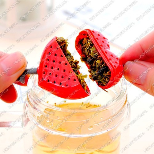 infusor corazón flechado de silicón para té / filtro tisanas