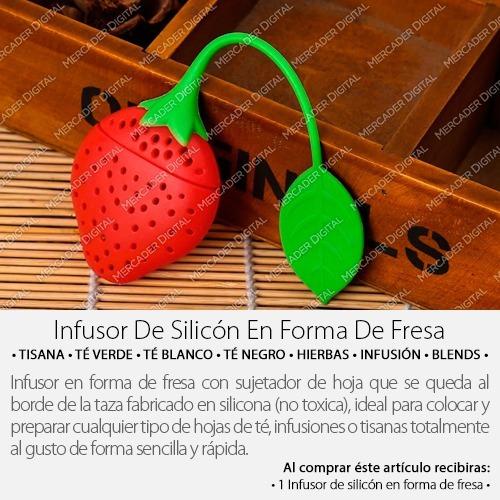 infusor de silicón para té en forma de fresa / infusiones