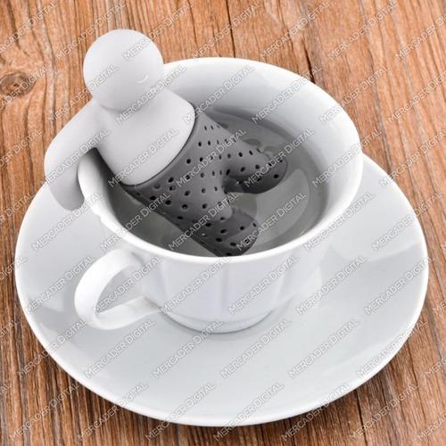 infusor de silicón para té - muñeco mr. tea / infusiones