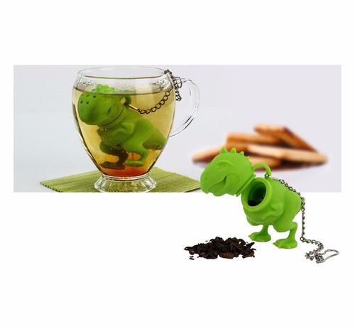 infusor de té de dinosaurio t-rex