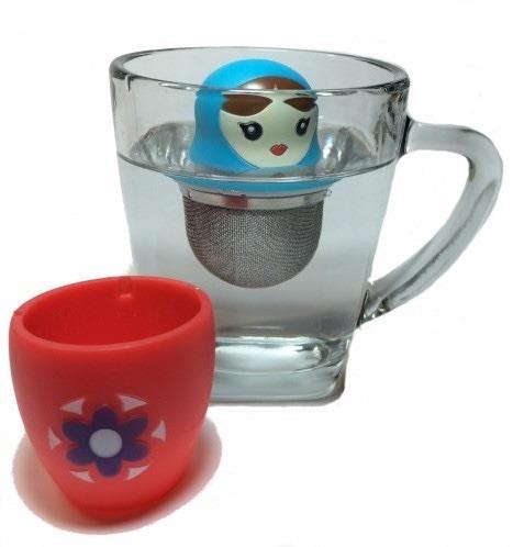 infusor de té diseño babushka rusa diseño diferente infusión