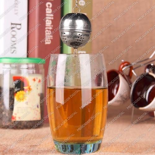 infusor de té en forma de bola de metal / acero inoxidable