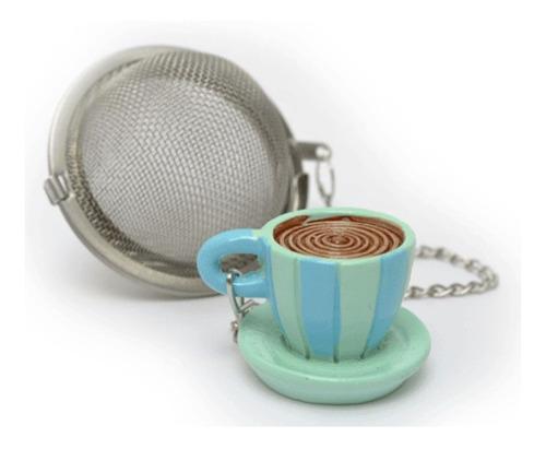 infusor de te en hebras de metal colador practico decorado