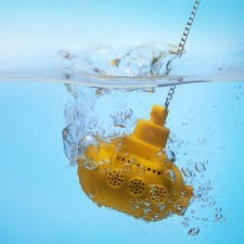 infusor de té submarino amarillo silicón hierbas