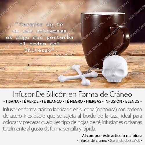 infusor para té en forma de cráneo filtro infusiones tisana