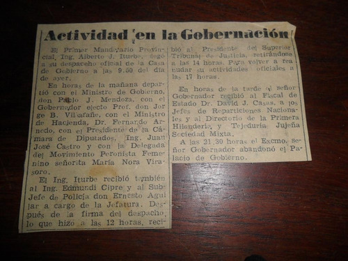 ing alberto iturbe pablo j mendoza gobernacion jujuy 1953