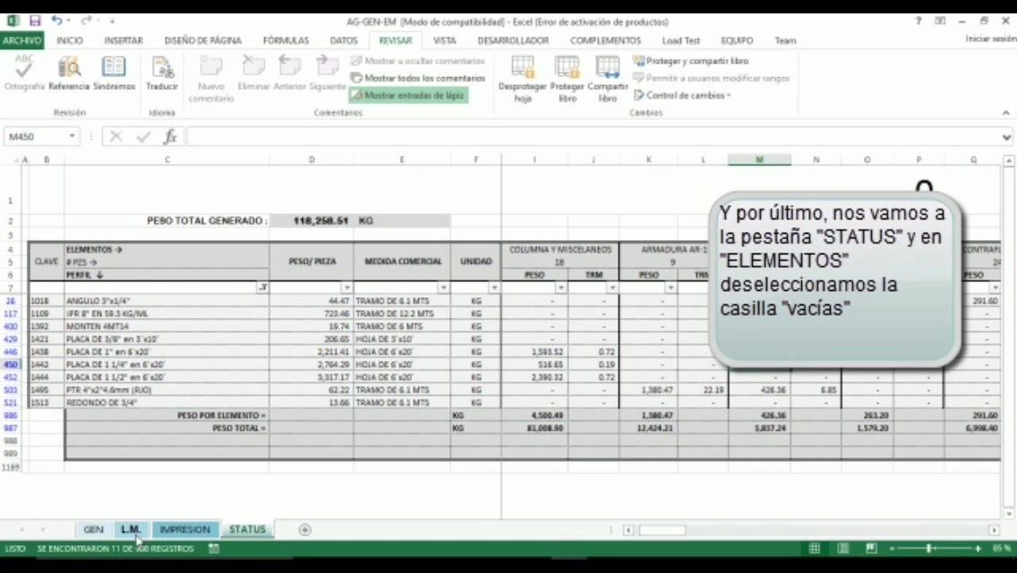 Ingeniería Civil - Estructura Metálica (hoja De Cálculo ...