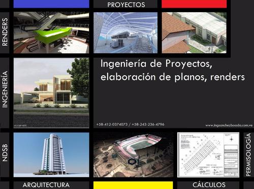 ingeniería de proyectos, planos de construcción, renders 3d