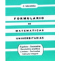 E. Navarro Formulario De Matematicas Universitarias
