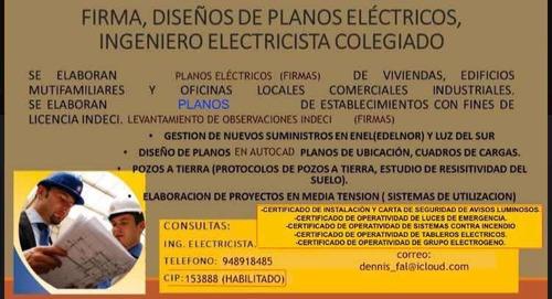 ingeniero electricista colegiado (habilitado)