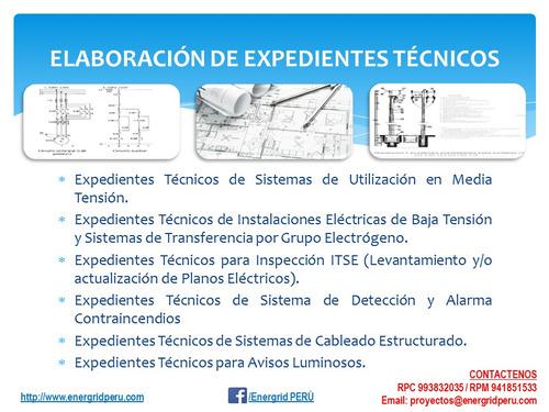 ingeniero electricista colegiado planos suministros indeci