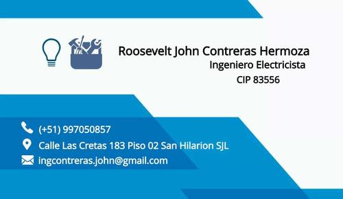 ingeniero electricista planos electricos instalaciones