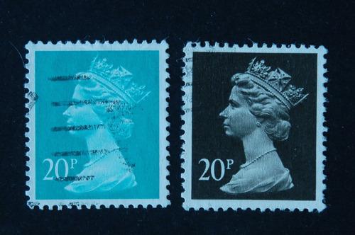 inglaterra 1970-95 defin. elizabeth il  20p azul  20p preto