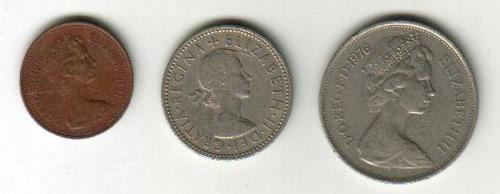 inglaterra (3) monedas - 1976, 1962