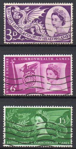 inglaterra - 6º jogos do império britânico - 1958 - s/comp.
