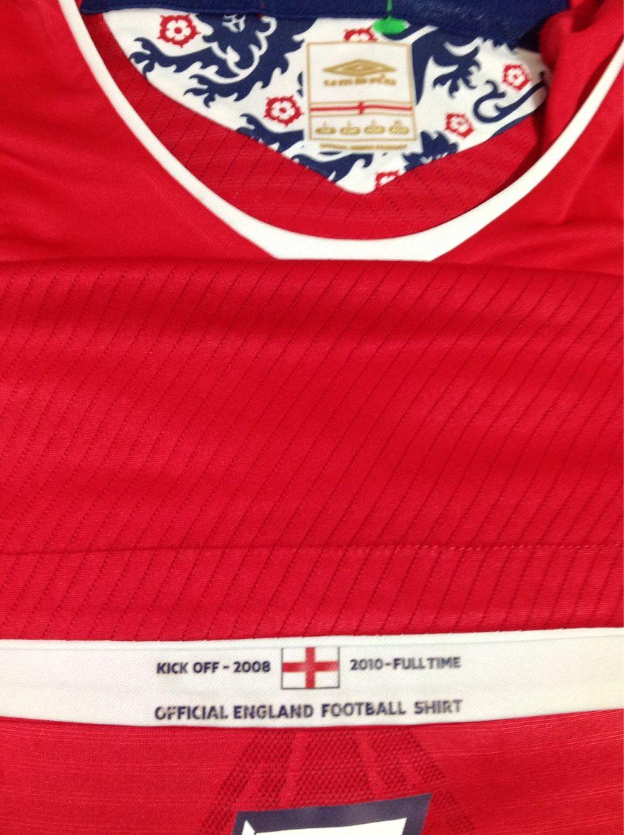 Inglaterra  7 Beckham Unif.2 Umbro Importada 08 10 Tam.g - R  149 5c201e1cce1af