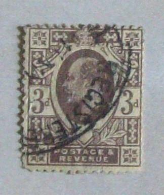 inglaterra, sello sc. 149 3d eduardo vii l0177