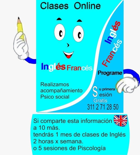 inglés, francés y español online