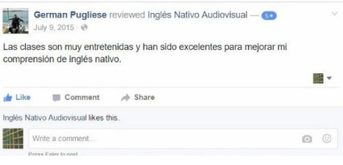 inglés nativo audiovisual