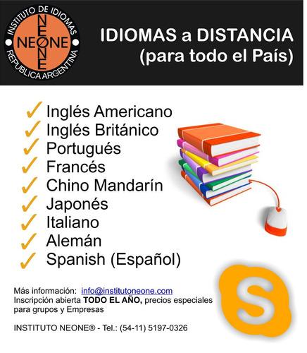 inglés portugués alemán francés italiano chino japones españ