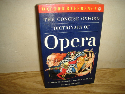inglés - the concise oxford dictionary of opera