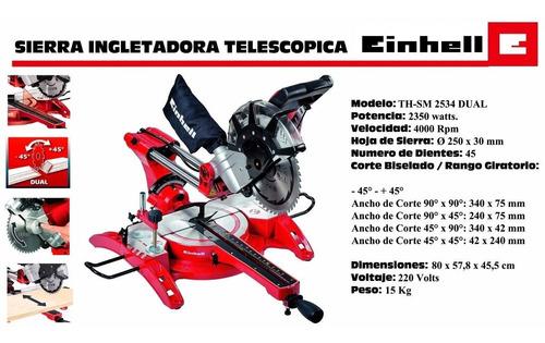 ingleteadora telescopica tcsm 2534 dual sierra marca alemana
